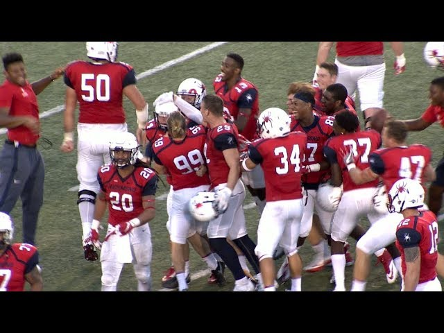 Spider Football Defeats Albany in Double Overtime