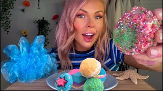 ASMR EDIBLE LUSH BATH BOMB EATING  (CRACKLING POP ROCKS & FIZZY EATING SOUNDS) HIGHEST VOLUME