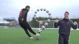 Crazy knuckleball! - Soccer shooting practice