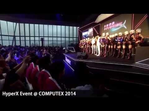 【HyperX 光速戰艦】6/5 發表記者會 & 電競表演賽全程紀錄_Kingston @ COMPUTEX 2014