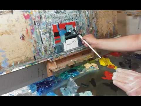 Abstract Oil Painting Session - How To Paint Abstract With Oils