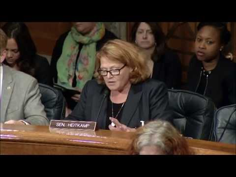 Heitkamp Questions DHS Secretary Jeh Johnson at Senate Committee Hearing