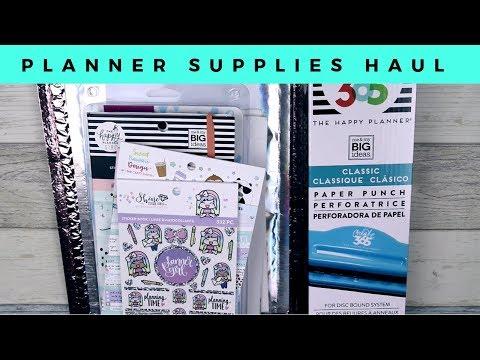 Planner Supplies Haul