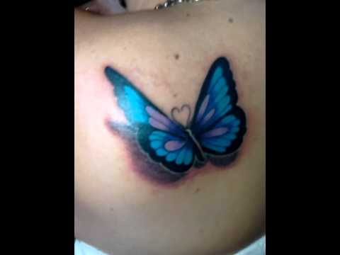 Mariposa 3d En La Espalda De Jenny Youtube