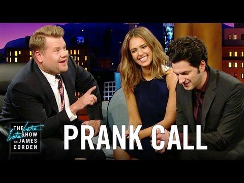Jessica Alba Prank Calls Her Company w/ Ben Schwartz & James Corden