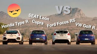 Golf R VS  León CUPRA VS Focus RS VS Type R | Autocosmos con Sergio Oliveira