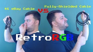 6 RGB SCART Cable vs High-quality shielded cable