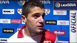 Entrevista a Iago Falqué tras el Rayo Vallecano (4-1) Málaga CF  - HD