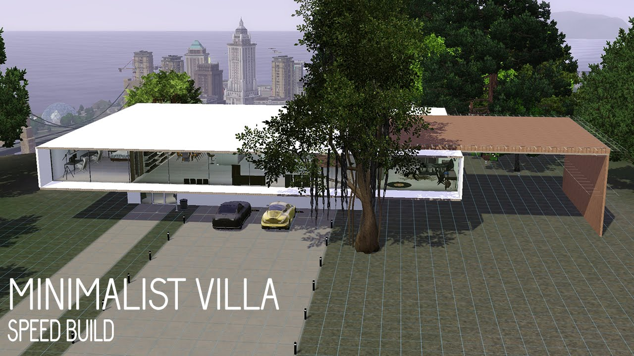 The Sims 3 House Building Minimalist Villa Youtube