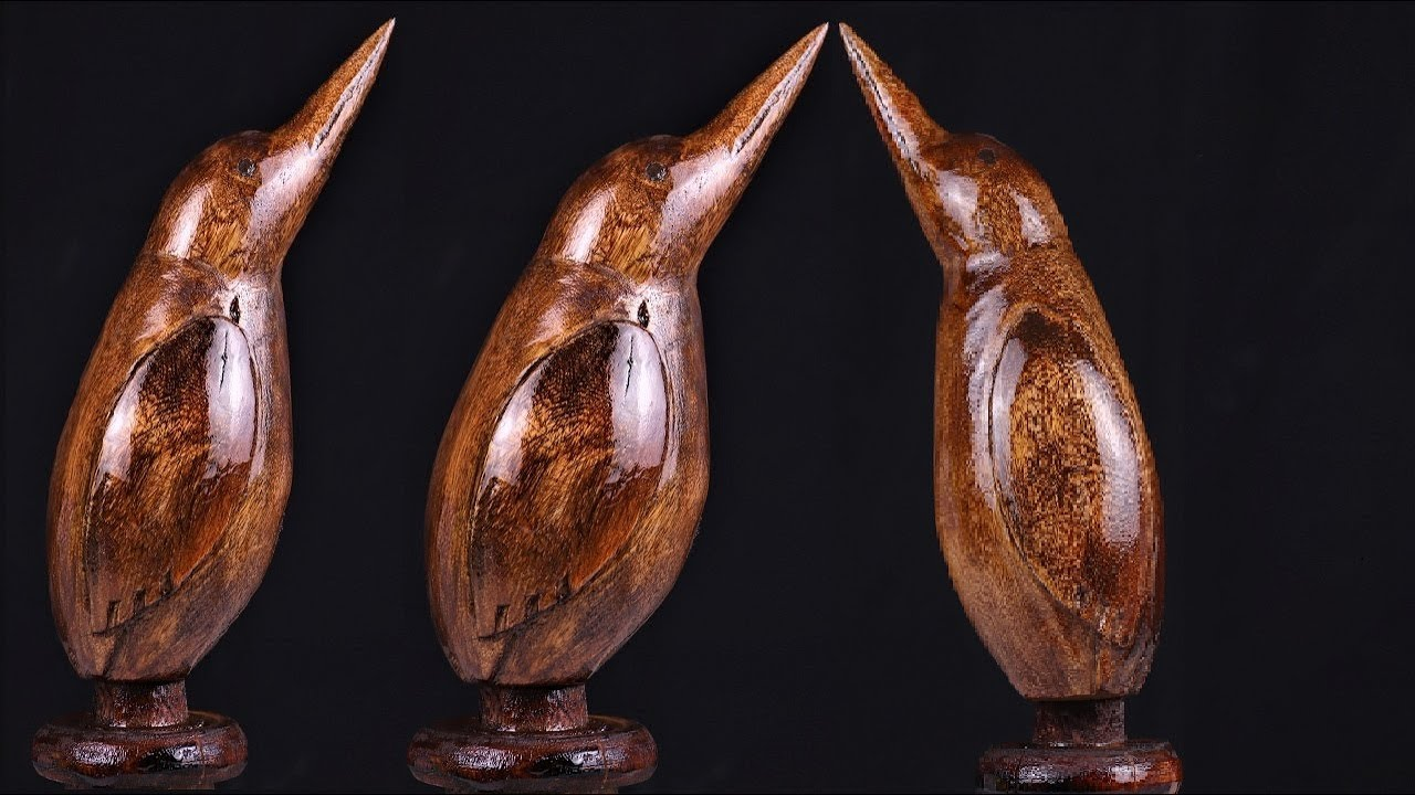 How to Carve a  Bird out of Woods with Simplest Tools. | DIY .