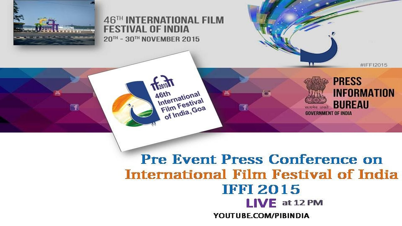 Press Conference on International Film Festival of India
