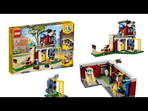 lego news new lego creator winter 2018 modular skate house set 31081 official pictures youtube. Black Bedroom Furniture Sets. Home Design Ideas