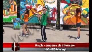 Ampla campanie de informare HIV   SIDA la Iasi  BZITV