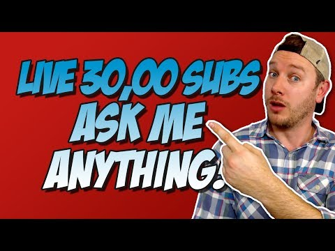 Sean Chandler Live Ask Me Anything! 30,000 Subs!
