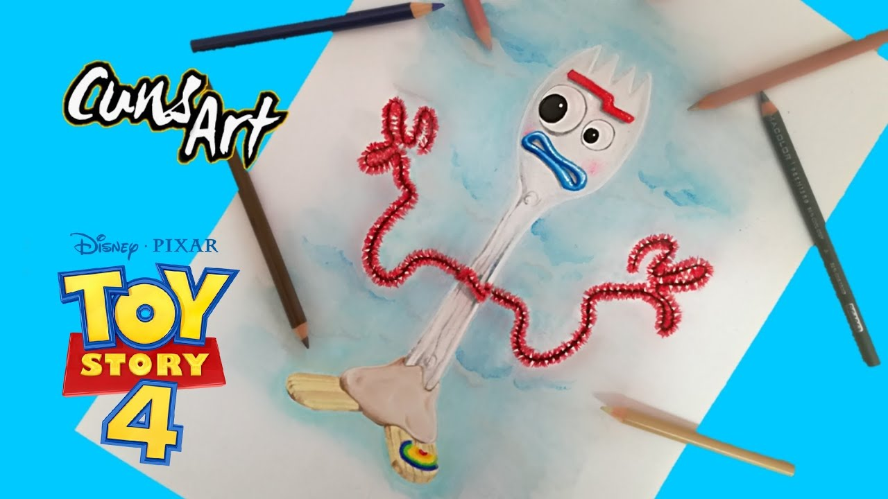 Como Dibujar A Forky Toy Story 4 How To Draw Forky
