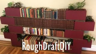 How To Make A Bookshelf With No Nails Or Screws -- By Roughdraft Diy