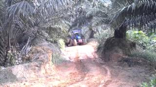PTO driven trailer for palm oil