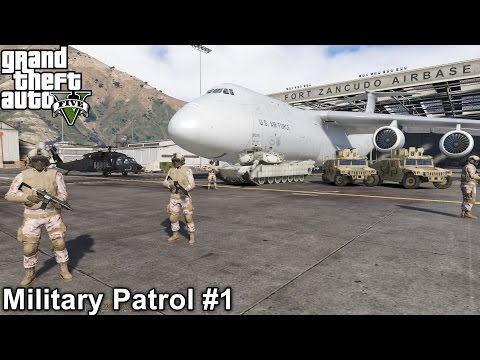 GTA 5 Military Patrol #1 | MerryWeather Private Army Takes Over Los Santos Police Station Part 1