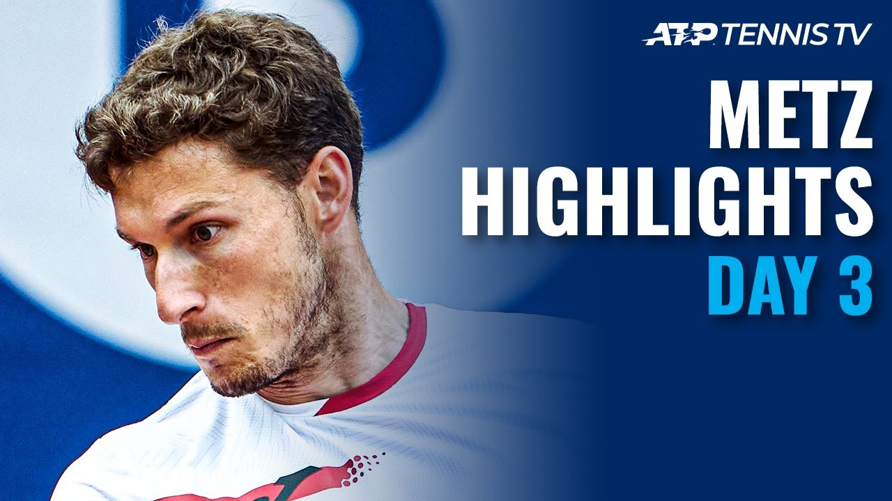 Download Murray Takes On Pospisil, Carreño Busta, Ymer & Pouille On Show | Metz 2021 Day 3 Highlights