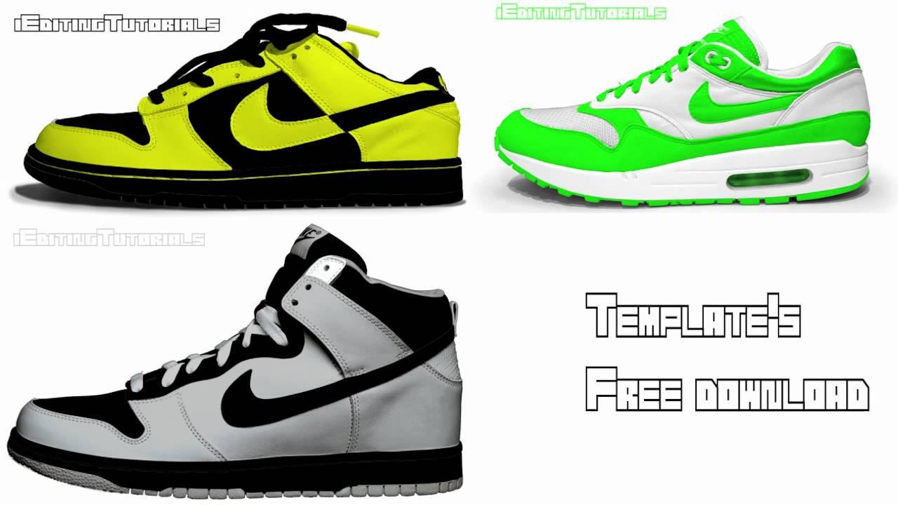 Nike Dunk Templates Free Download PSD