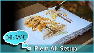 My Watercolor Plein Air Set Up And A Quick Tree Study