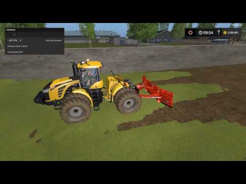 FS17 courseplay grain transport and bunker leveling leveler modes