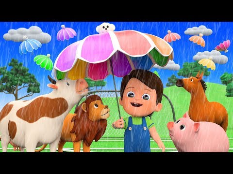 Rain Rain Go Away Nursery Rhymes With Farm Animals