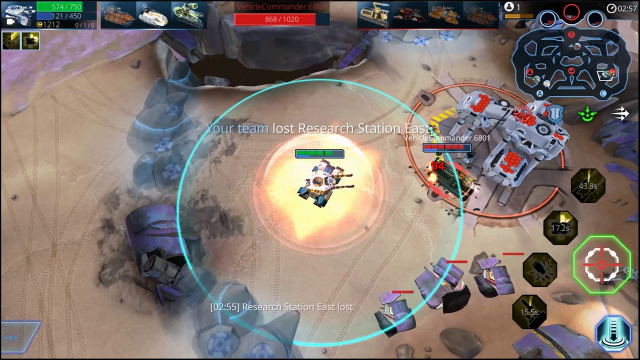 Panzer League android game first look gameplay espau00f1ol