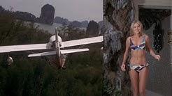 Man With the Golden Gun (James Bond 1974) Britt Ekland in bikini plus plane flight music