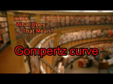 What does Gompertz curve mean?