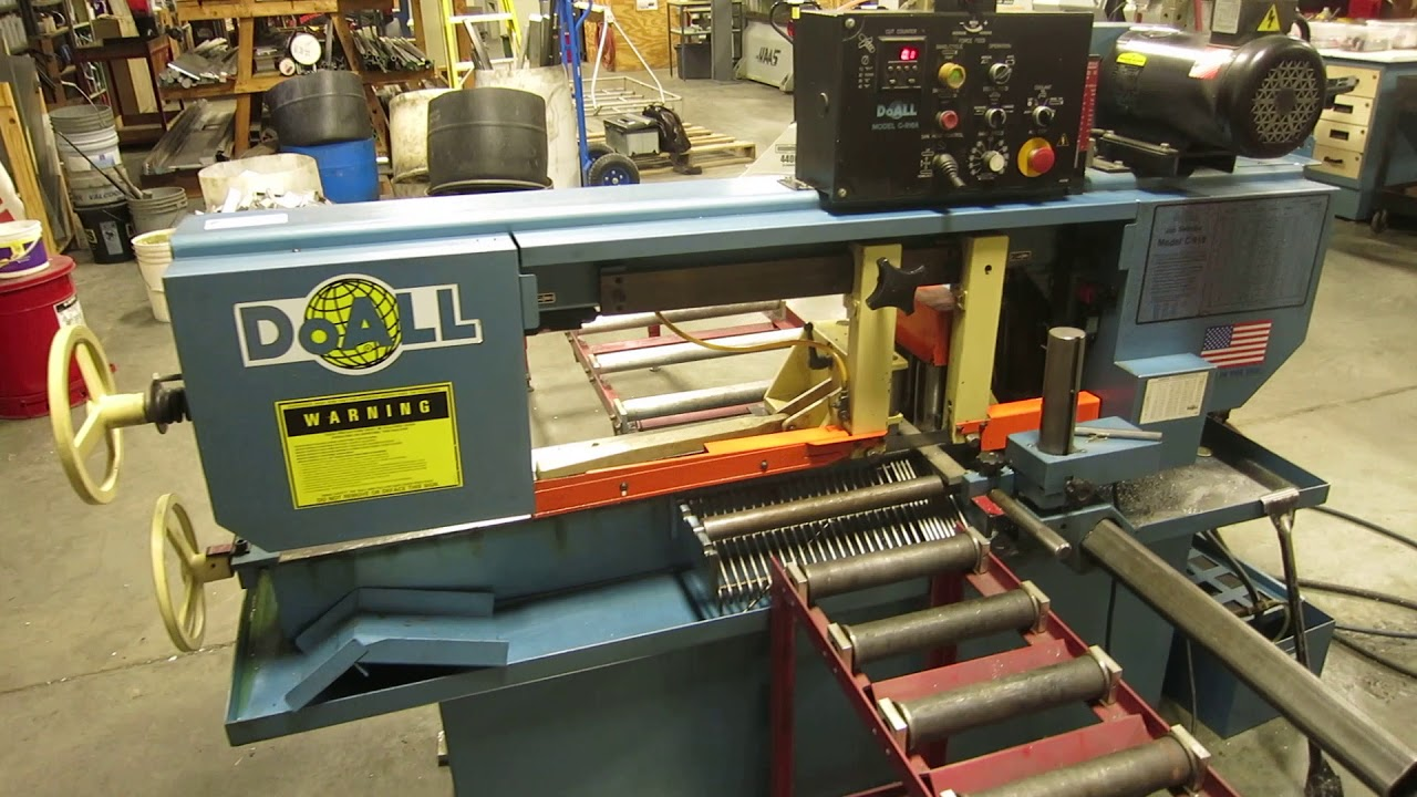 hight resolution of doall c 916a automatic horizontal bandsaw