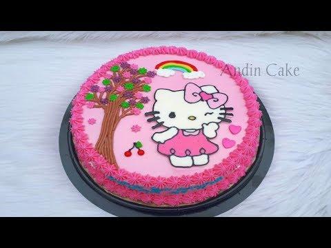 Tutorial Cara Membuat Kue Ulang Tahun Karakter Hello Kitty