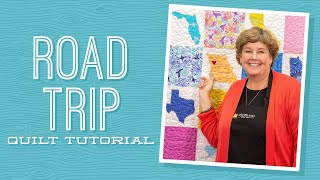 """Make a """"Road Trip"""" Map Applique Quilt with Jenny Doan of Missouri Star (Video Tutorial)"""