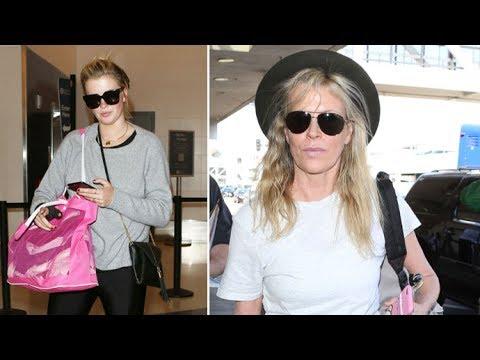 Kim Basinger Stunning At 63 Catching Flight With Daughter Ireland Baldwin At LAX