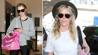 Kim Basinger Stunning At 63 Catching Flight With Daughter Ireland Baldwin At LAX