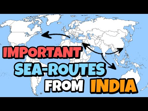 #4 Five Important sea routes from India asked in sponsorship Interview