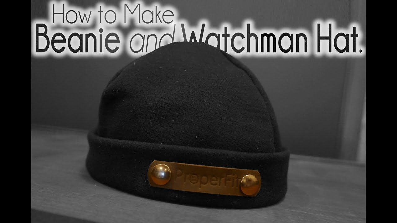 How To Make Watchman Hat Beanie Youtube