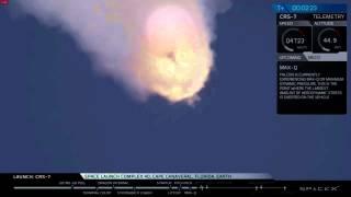 Space X Debris Detaching During Explosion