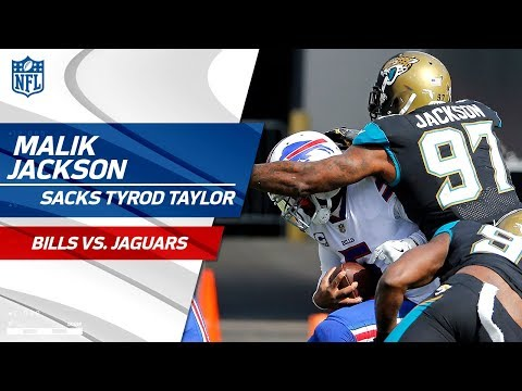 Malik Jackson Sacks Tyrod Taylor on Huge Jags Blitz! | Bills vs. Jaguars | NFL Wild Card Highlights