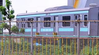 JR貨物大宮車両所裏側旧解体線 クハ209-7 訓練車