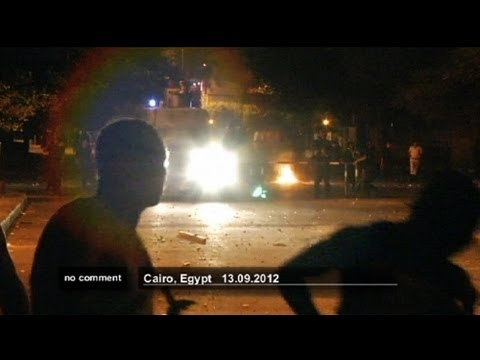 Crowd attack US embassy in Cairo - no comment