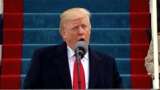 Hör Donald Trumps tal från installationen