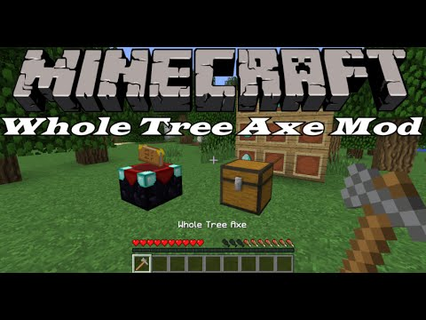 Minecraft: Whole Tree Axe Mod 1.8/1.7.10 - YouTube