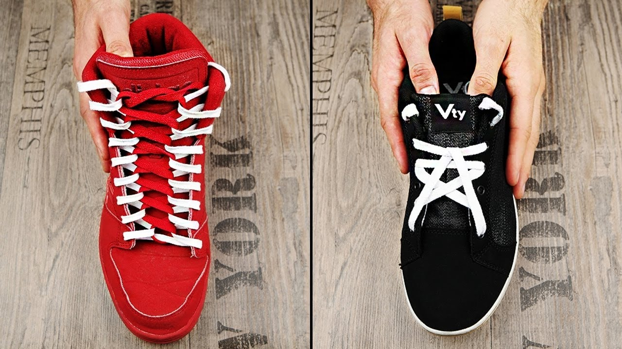 11 Cool Ways To Tie Shoelaces - YouTube