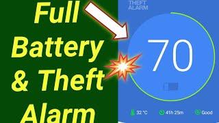 Full Battery & Theft Alarm App screenshot 1