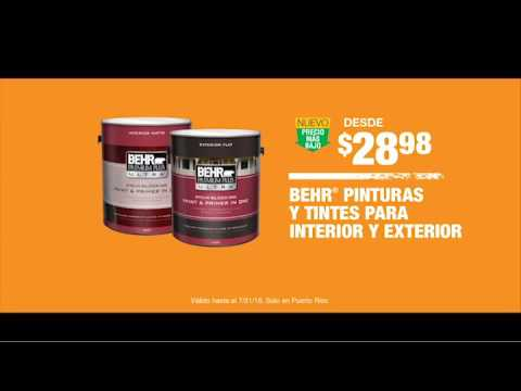 Home Depot Oferta En Pintura Behr Premium Plus Youtube