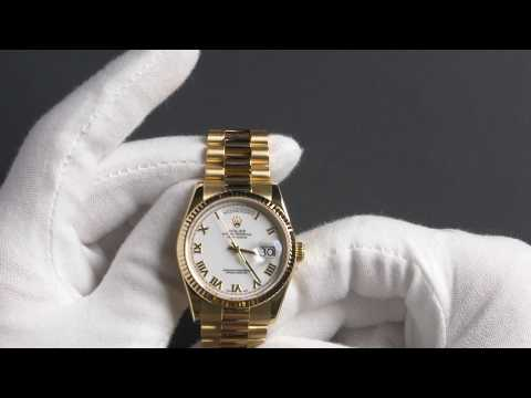 Rolex Day-Date 118238 White Roman Dial Watch Review | Bob's Watches