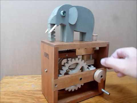 Wooden Elephant automaton by BANOFALK