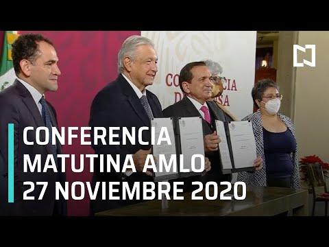 Conferencia matutina AMLO / 27 de noviembre 2020
