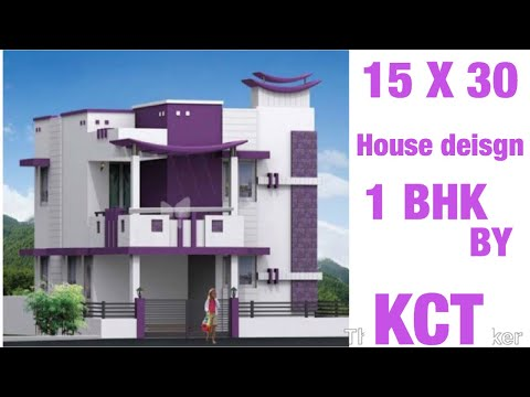 15 X 30 Low Budget House Design With 3d View And Interior